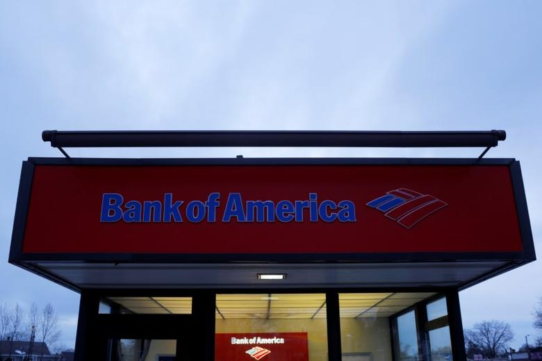 A Bank of America ATM kiosk sits in a parking lot in Medford, Massachusetts, U.S. January 10, 2017.   REUTERS/Brian Snyder