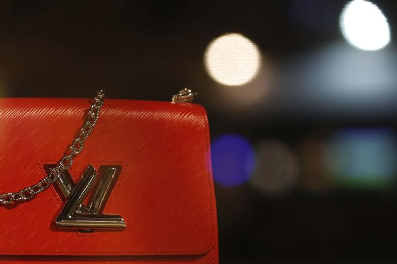 The logo of Louis Vuitton is seen on a handbag at a Louis Vuitton store in Bordeaux, southwestern France, October 4, 2016. Picture taken October 4, 2016. REUTERS/Regis Duvignau