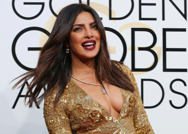 File Photo: Actress Priyanka Chopra arrives at the 74th Annual Golden Globe Awards in Beverly Hills, California, U.S., January 8, 2017.  REUTERS/Mike Blake/File Photo