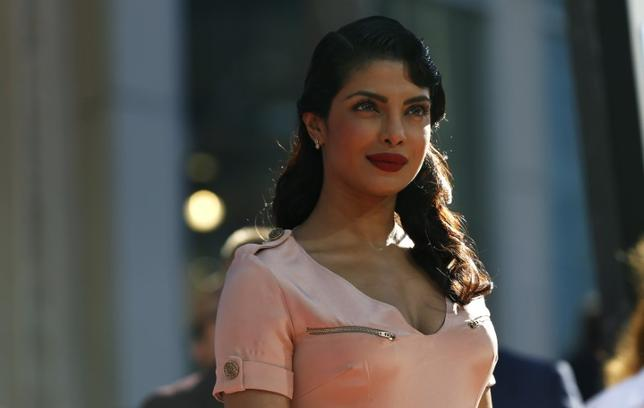 Actress Priyanka Chopra, who voices the character of ''Ishani,'' poses at the world premiere of ''Planes'' at El Capitan theatre in Hollywood, California August 5, 2013.  REUTERS/Mario Anzuoni