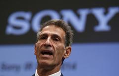 File Photo: Michael Lynton, CEO Sony Entertainment and CEO and chairman Sony Pictures Entertainment, speaks during an investors' conference at the company's headquarters in Tokyo November 18, 2014. REUTERS/Toru Hanai