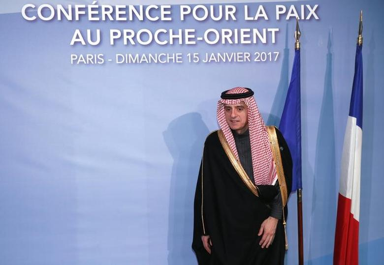 Saudi Foreign Minister Adel al-Jubeir arrives for the opening of the Mideast peace conference in Paris,France, January 15, 2017. REUTERS/Thomas Samson/POOL