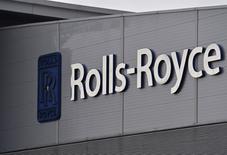 Logo da Rolls-Royce visto em prédio da companhia em Bristol, Reino Unido.    17/12/2015     REUTERS/Toby Melville/File Photo