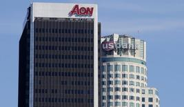 The US Bank Tower and the AON Corporation building are pictured as part of the Los Angeles, California skyline February 9, 2012. REUTERS/Fred Prouser