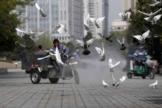 1月23日、世界保健機関(WHO)は、野生の鳥や家禽(かきん)の鳥インフルエンザウイルスへの感染を注意深く観察し、人間に感染した場合は、迅速に報告するよう全ての加盟国に呼び掛けた。写真は上海で2013年4月撮影(2017年 ロイター/Aly Song)