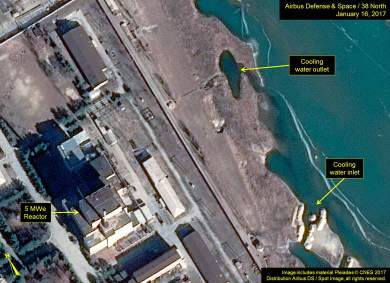 North Korea's Yongbyon Nuclear Scientific Research Center is pictured in this January 16, 2017 handout satellite image obtained by Reuters January 27, 2017.  Includes material Pleiades CNES 2017 Distribution Airbus DS / Spot Image, all rights reserved.     Airbus Defense & Space and 38 North/Handout via REUTERS