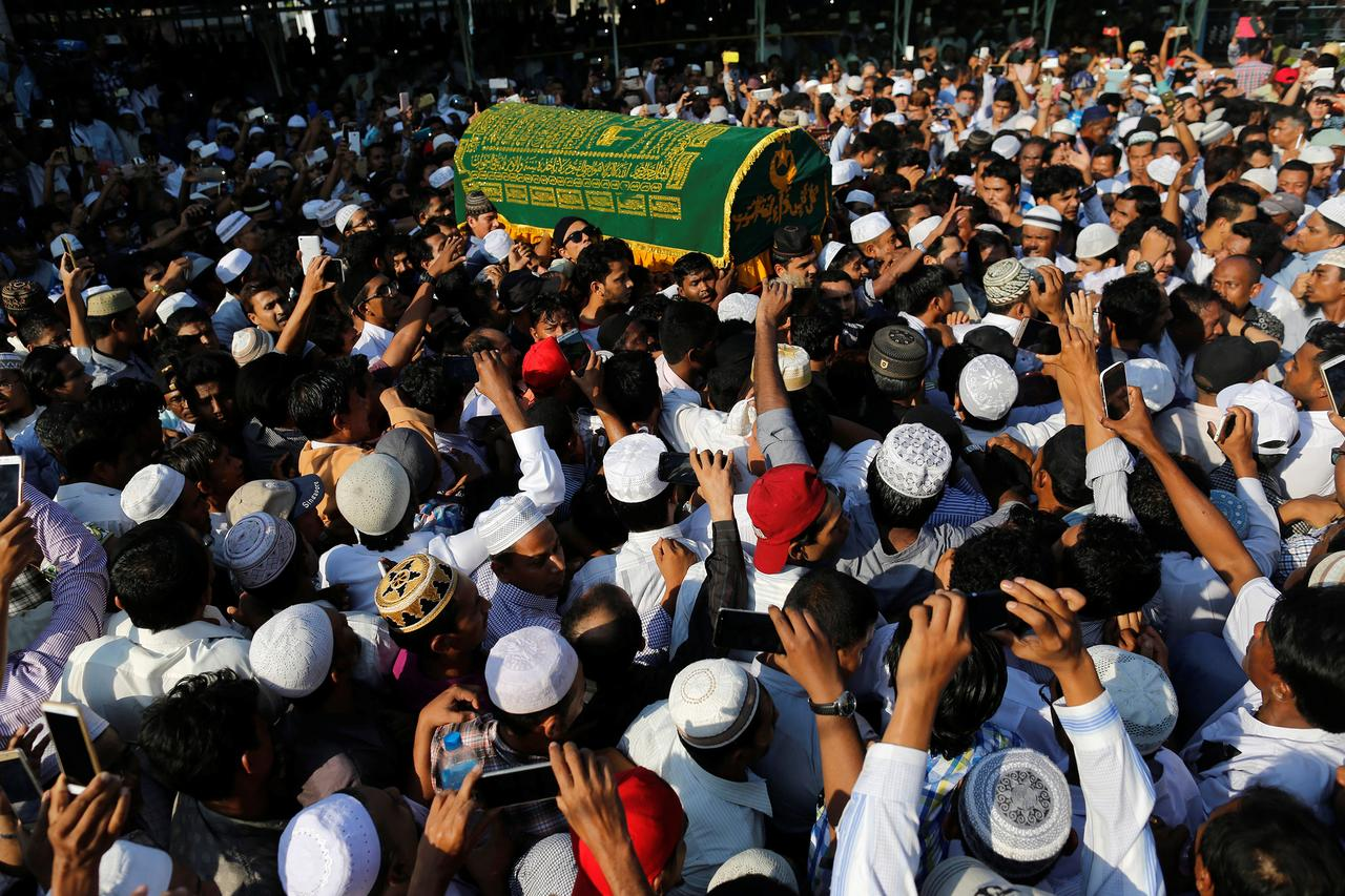 Mourners gather for funeral of Myanmar lawyer shot dead at airport