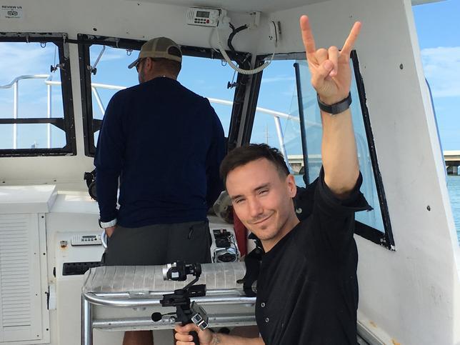 2月2日、米フロリダ沖で先月31日、映画製作者で環境活動家のカナダ人、ロブ・スチュアートさん(37、写真)が海上で撮影中に行方不明となった。両親は2日、海での経験が生還につながればとの願いを語った。写真は家族提供(2017年 ロイター)