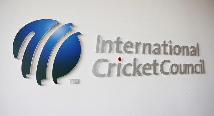 The International Cricket Council (ICC) logo at the ICC headquarters in Dubai, October 31, 2010.   REUTERS/Nikhil Monteiro/Files