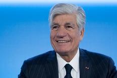 Le président du directoire de Publicis Maurice Lévy, exclut un mariage entre le numéro trois mondial de la publicité et son rival français Havas. /Photo d'archives/REUTERS/Gonzalo Fuentes
