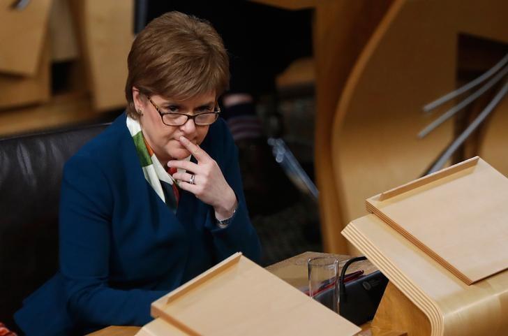 Scotland's First Minister Nicola Sturgeon attends the Brexit debate in the Scottish Parliament Edinburgh Scotland, Britain January 17, 2017. REUTERS/Russell Cheyne -