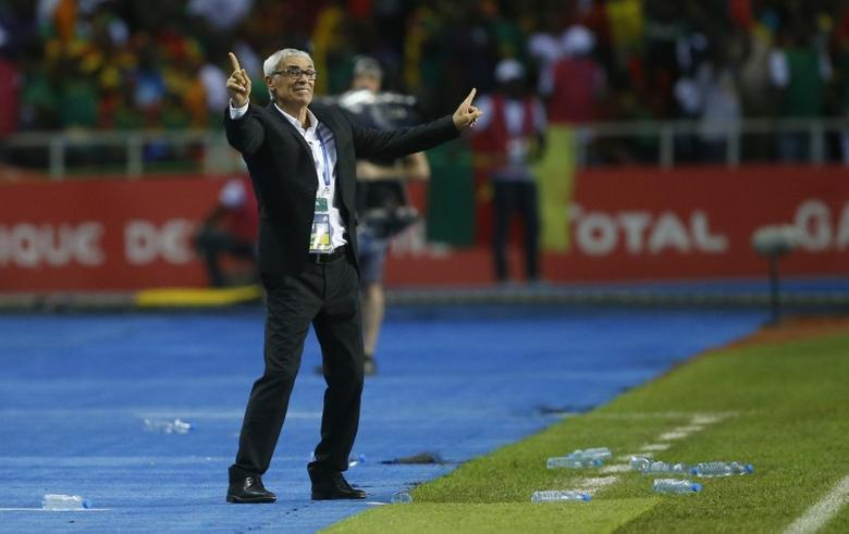 Football Soccer - African Cup of Nations - Final - Egypt v Cameroon - Stade d'Angondjé - Libreville, Gabon - 5/2/17 Egypt coach Hector Cuper   Reuters / Mike Hutchings Livepic