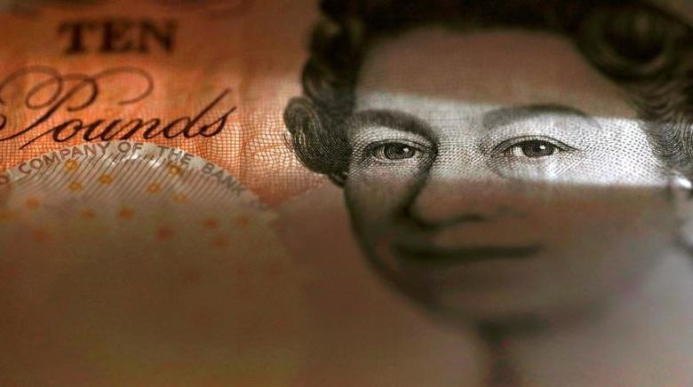 An English ten Pound note is seen in an illustration taken March 16, 2016.  REUTERS/Phil Noble/Illustration/File Photo