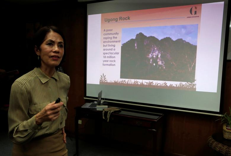 Philippines' Environment and Natural Resources Secretary Regina Lopez (DENR) answers questions during a Reuters interview at the DENR headquarters in Quezon city, metro Manila, Philippines February 6, 2017. REUTERS/Romeo Ranoco