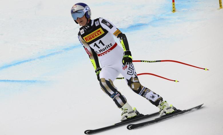 Alpine Skiing - FIS Alpine Skiing World Championships - Women's Super G - St. Moritz, Switzerland - 7/02/17 -  Lindsey Vonn of the USA skis out.    REUTERS/Stefano Rellandini