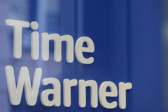 FILE PHOTO -  A Time Warner logo is seen at a Time Warner store in New York City, October 23, 2016. REUTERS/Stephanie Keith/File Photo