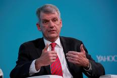Tim Sloan, Chief Executive Officer of Wells Fargo & Company, takes part in the Yahoo Finance All Markets Summit in New York, U.S., February 8, 2017. REUTERS/Lucas Jackson