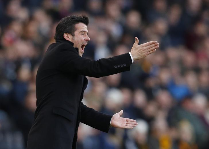 Britain Football Soccer - Hull City v Liverpool - Premier League - The Kingston Communications Stadium - 4/2/17 Hull City manager Marco Silva   Reuters / Phil Noble Livepic
