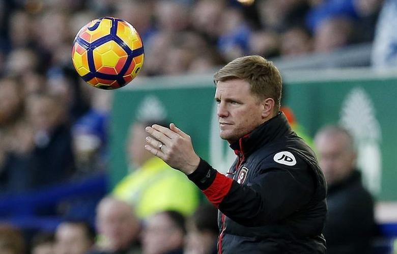 Britain Football Soccer - Everton v AFC Bournemouth - Premier League - Goodison Park - 4/2/17 Bournemouth manager Eddie Howe  Reuters / Andrew Yates Livepic