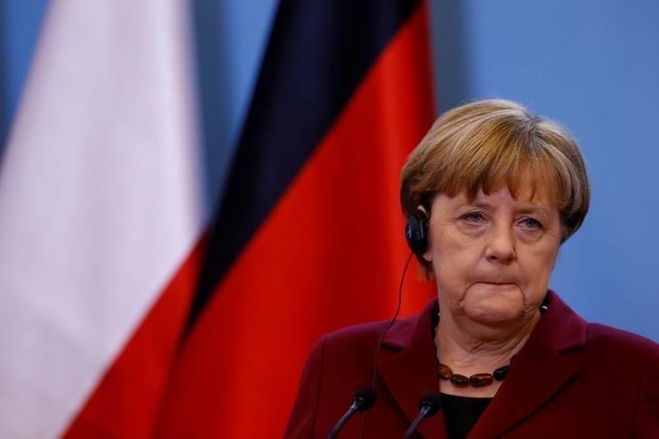 German Chancellor Angela Merkel attends a press conference in Warsaw, Poland, February 7, 2017.     REUTERS/Kacper Pempel/File Photo