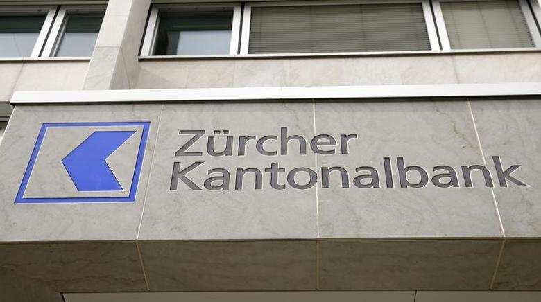 The logo of Zuercher Kantonalbank bank (ZKB) is seen at its headquarters at the Bahnhofstrasse in Zurich, Switzerland March 7, 2016.  REUTERS/Arnd Wiegmann