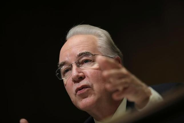 U.S. Rep. Tom Price (R-GA) testifies before a Senate Finance Committee confirmation hearing on his nomination to be Health and Human Services secretary on Capitol Hill in Washington, U.S., January 24, 2017. REUTERS/Carlos Barria