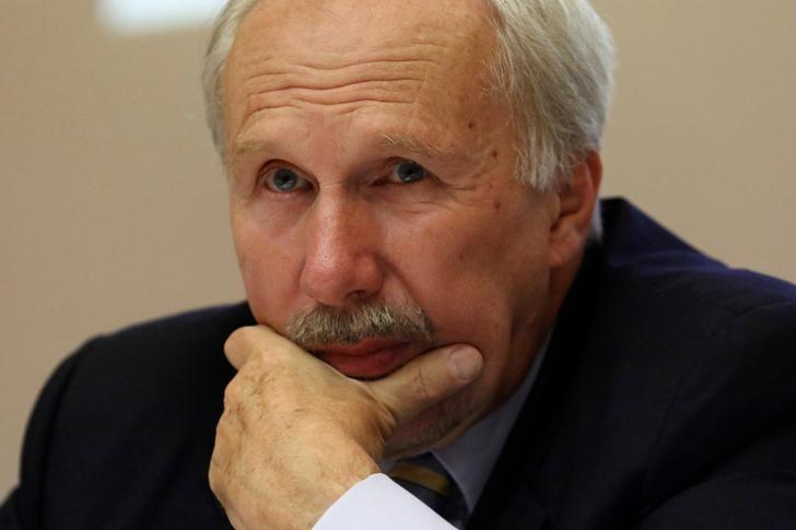 President of the Austrian National Bank and European Central Bank Governing Council member Ewald Nowotny attends a news conference in the building of the Central Bank of Cyprus in Nicosia, Cyprus October 27, 2016.REUTERS/Yiannis Kourtoglou