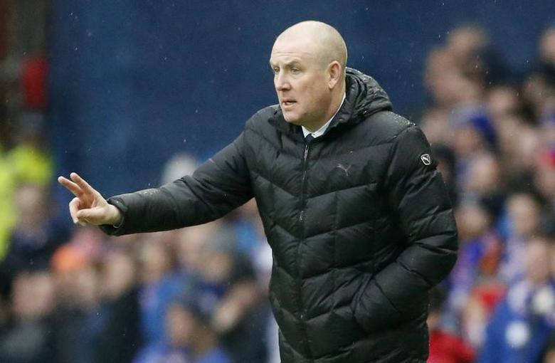 Britain Football Soccer - Rangers v Celtic - Scottish Premiership - Ibrox Stadium - 31/12/16 Rangers manager Mark Warburton during the match Reuters / Russell Cheyne Livepic