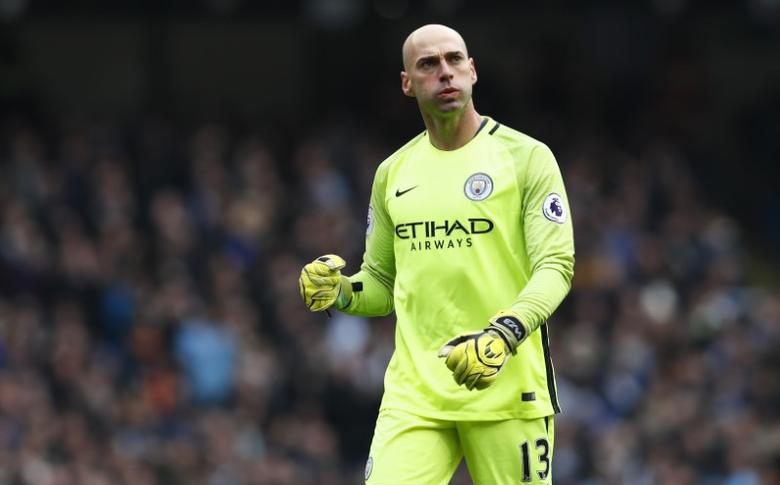 Britain Soccer Football - Manchester City v Swansea City - Premier League - Etihad Stadium - 5/2/17 Manchester City's Willy Caballero  Action Images via Reuters / Jason Cairnduff Livepic