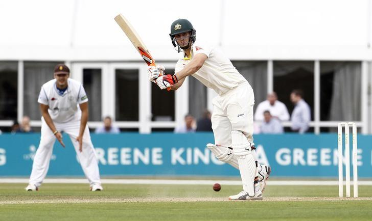 Cricket - Derbyshire v Australia - 3aaa County Ground, Derby - 23/7/15Australia's Shaun Marsh in actionAction Images via Reuters / Craig Brough/ Livepic/ Files