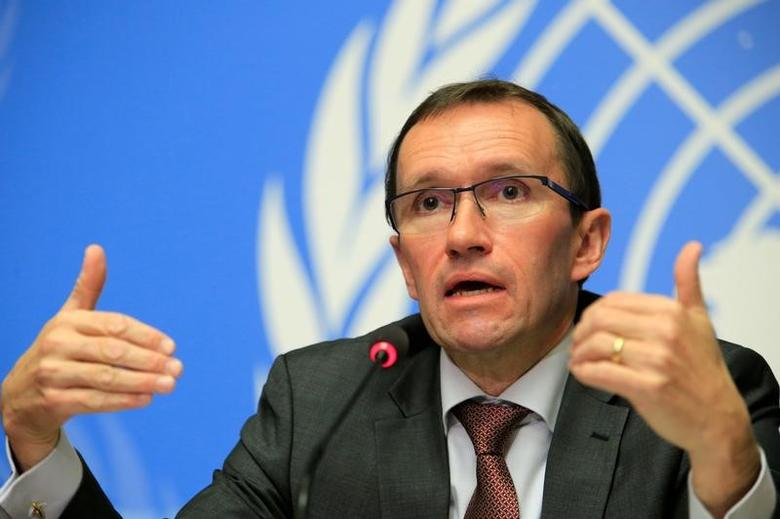 U.N. Special Advisor on Cyprus Espen Barth Eide speaks during a news conference in Geneva, Switzerland January 13, 2017. REUTERS/Pierre Albouy/File Photo
