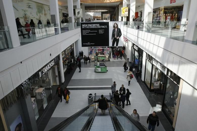 People are seen walking through Roosevelt Field shopping mall in Garden City, New York February 22, 2015.   REUTERS/Shannon Stapleton