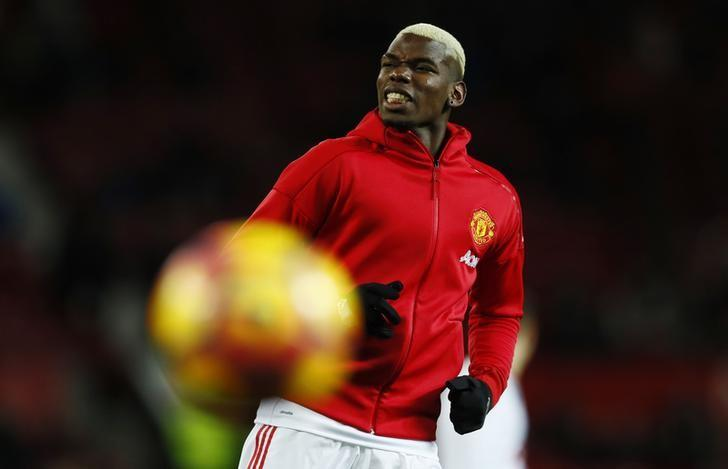 Britain Soccer Football - Manchester United v Hull City - Premier League - Old Trafford - 1/2/17 Manchester United's Paul Pogba during the warm up before the match Action Images via Reuters / Jason Cairnduff/ Livepic/ Files