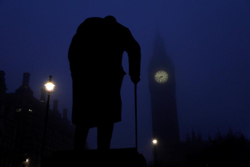 unearthed essay on alien life reveals churchill the scientist file photo the houses of parliament and a statue of winston churchill are seen on a foggy morning in london britain 30 2016