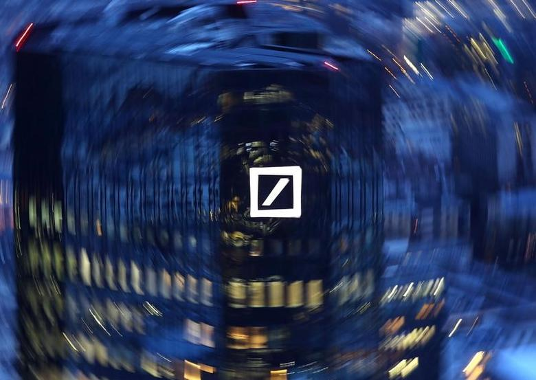 The head quarters of Germany's Deutsche Bank are photographed early evening in Frankfurt, Germany, January 31, 2017.  REUTERS/Kai Pfaffenbach