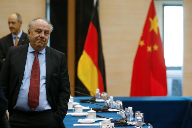 Matthias Machnig attends a meeting with Chinese counterparts after German Economy Minister Sigmar Gabriel canceled his attendance in Beijing, China, November 1, 2016. REUTERS/Thomas Peter