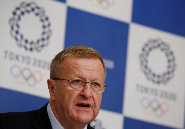 2月20日、IOCのジョン・コーツ副会長は、2020年東京五輪のゴルフ会場となる予定の霞ケ関CCについて、女性の正会員を認めるべきとの考えを示した。東京で2016年12月撮影(2017年 ロイター/Kim Kyung-Hoon)