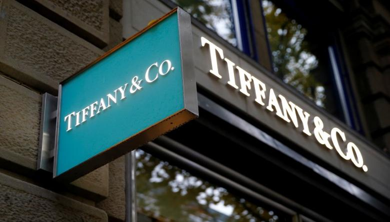 The logo of U.S. jeweller Tiffany & Co. is seen at a store at the Bahnhofstrasse shopping street in Zurich, Switzerland October 26, 2016.   REUTERS/Arnd Wiegmann