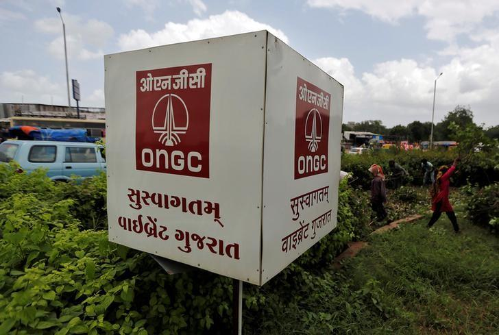 The logo of Oil and Natural Gas Corp's (ONGC) is pictured along a roadside in Ahmedabad, India, September 6, 2016. REUTERS/Amit Dave/File Photo