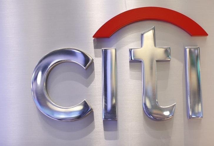 A Citi sign is seen at the Citigroup stall on the floor of the New York Stock Exchange, October 16, 2012. REUTERS/Brendan McDermid/File Photo