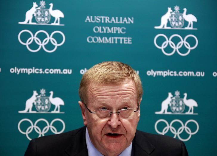 FILE PHOTO - John Coates, President of the Australian Olympic Committee (AOC), announces the findings of a probe into the conduct of Australia's swimming team members in the run-up to the 2012 London Games, at a media conference in Sydney August 23, 2013. REUTERS/David Gray