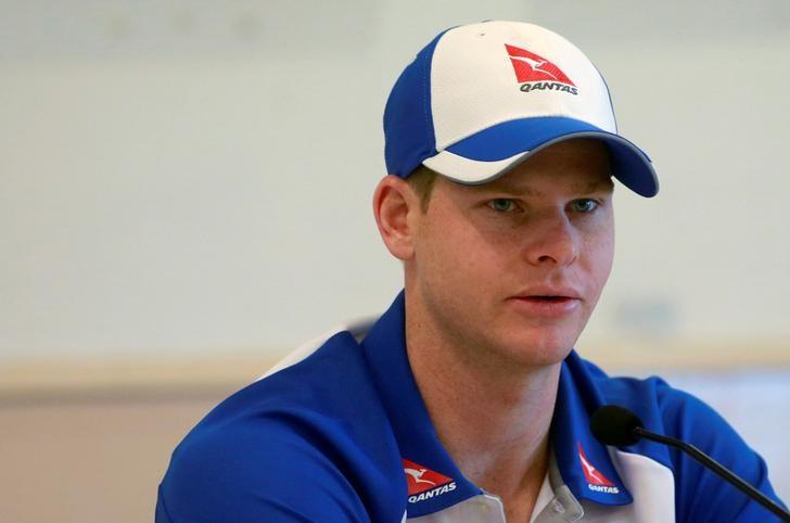 Australian cricket captain Steve Smith speaks at a news conference in Mumbai, February 14, 2017. REUTERS/Danish Siddiqui/Files