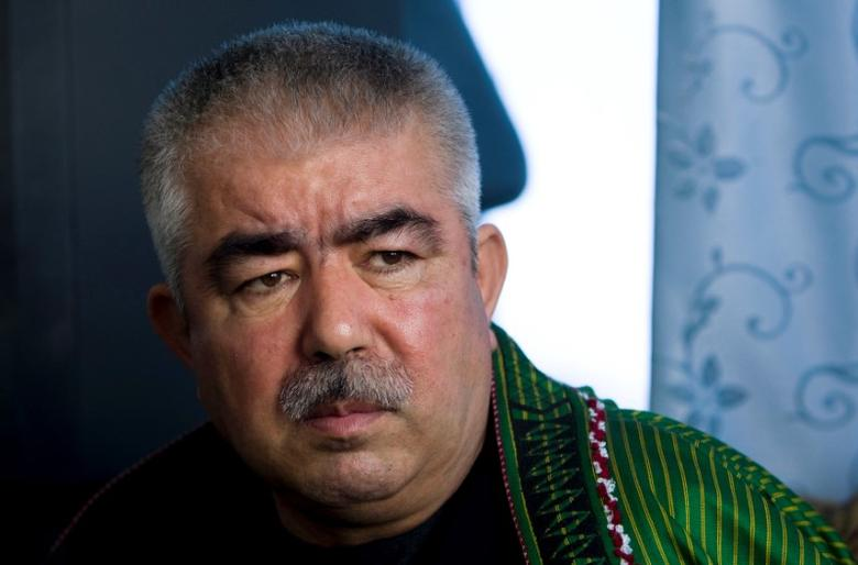 Afghan General Abdul Rashid Dostum speaks during an interview with Reuters at his Palace in Shibergan, in northern Afghanistan August 19, 2009. REUTERS/Caren Firouz/File Photo