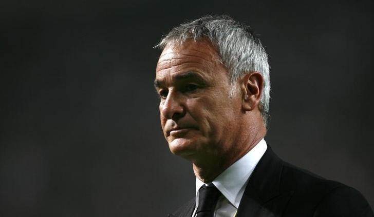 Juventus coach Claudio Rainieri leaves the pitch after the first half of a friendly soccer match against South China at Hong Kong stadium May 22, 2008. REUTERS/Victor Fraile