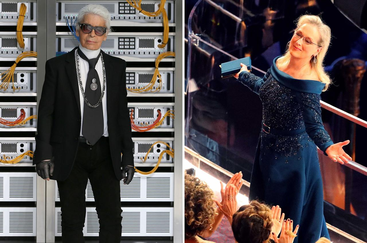 d043b020a2ddd Meryl Streep accuses Karl Lagerfeld of spoiling her Oscars   Reuters