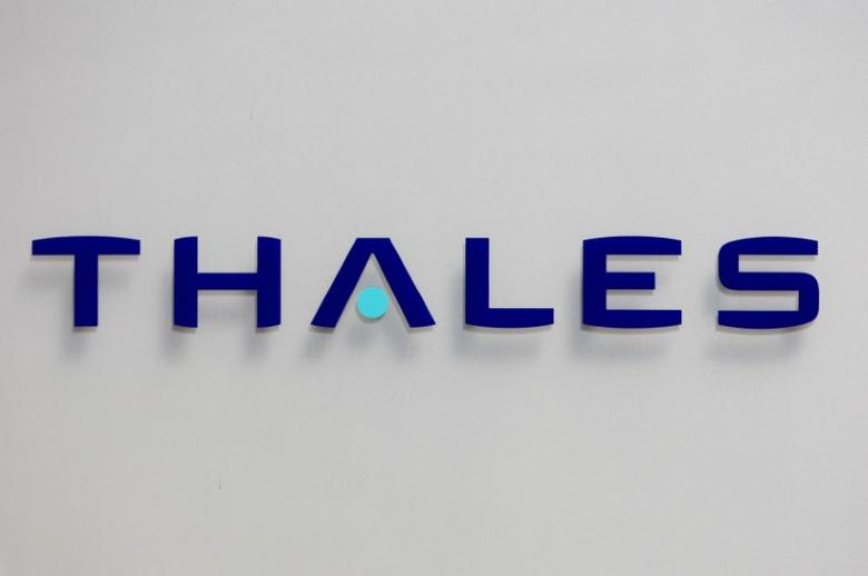 The logo of French defence and electronics group Thales is seen at the company's headquarters in Neuilly, near Paris,  May 20, 2008.   REUTERS/Charles Platiau/File Photo                   GLOBAL BUSINESS WEEK AHEAD PACKAGE    SEARCH BUSINESS WEEK AHEAD 17 OCT FOR ALL IMAGES - RTX2P3C4