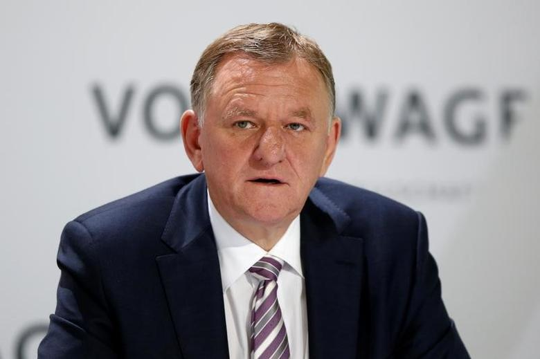 Andreas Renschler, member of the Board of Management of Volkswagen AG with responsibility for 'Commercial Vehicles' attends Volkswagen AG annual news conference in Wolfsburg, Germany, April 28, 2016.    REUTERS/Fabrizio Bensch