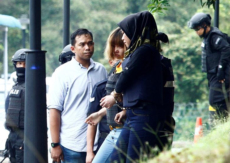 Vietnamese Doan Thi Huong leaves a Sepang court after she was charged with the murder of North Korea Kim Jong Nam, in Malaysia March 1, 2017. REUTERS/Alexandra Radu