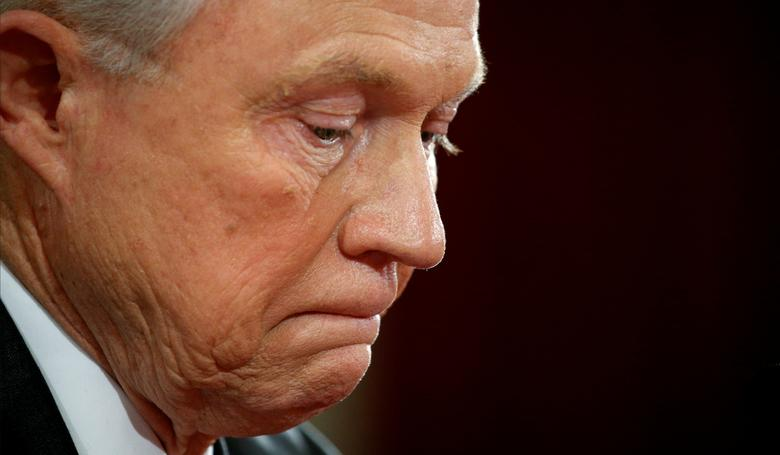 File Photo: U.S. Sen. Jeff Sessions (R-AL) testifies at a Senate Judiciary Committee confirmation hearing for Sessions to become U.S. attorney general on Capitol Hill in Washington, U.S.  January 10, 2017. REUTERS/Kevin Lamarque/Files