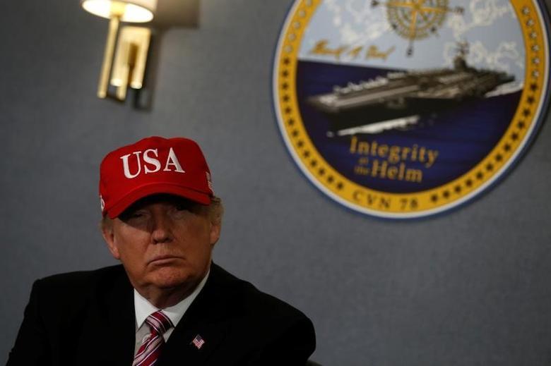 U.S. President Donald Trump   in Newport News, Virginia, U.S. March 2, 2017. REUTERS/Jonathan Ernst -